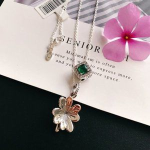 Pandora Lucky Four-Leaf Clover Necklace